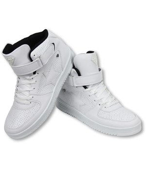 Cash Money Zapatilla de deporte - Zapatos Para Hombre Alto - Star Blanco Negro