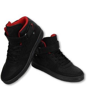 Cash Money Zapatilla de deporte - Zapatos Para Hombre Alto - Star Negro Rojo