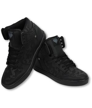 Cash Money Zapatilla de deporte - Zapatos Para Hombre Alto - Army Negro Completo