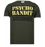 Local Fanatic Camisetas - Bad Dog -  Rhinestone Camisetas -  Verde