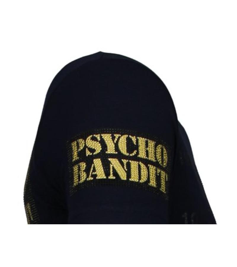 Local Fanatic Camisetas - Bad Dog -  Rhinestone Camisetas -  Azul