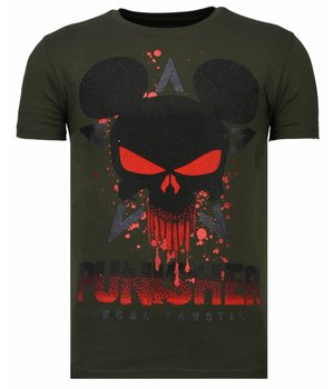 Local Fanatic Camisetas - Punisher Mickey - Rhinestone Camisetas -  Verde