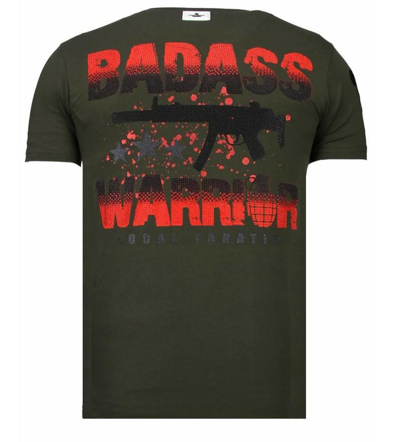a2c9d83c905d1 ... Local Fanatic Camisetas - Punisher Mickey - Rhinestone Camisetas -  Verde ...