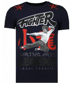Local Fanatic Camisetas - Fighter Legend - Rhinestone Camisetas -  Azul