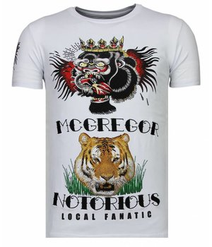 Local Fanatic Camisetas - McGregor Tattoo - Rhinestone Camisetas -  Blanco