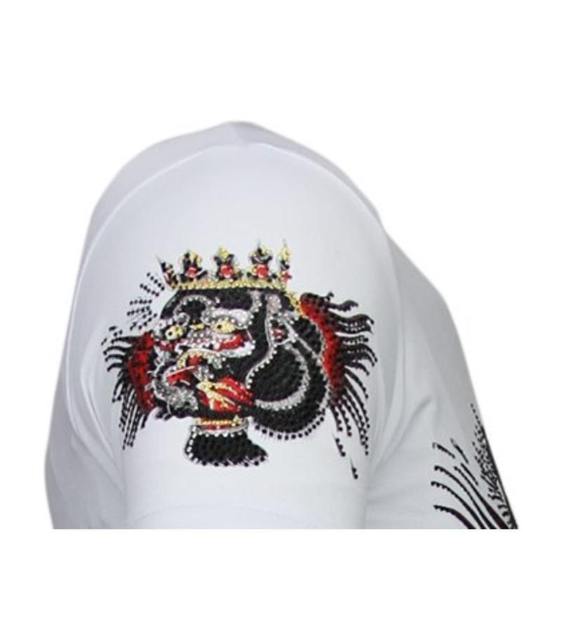 Local Fanatic Camisetas - McGregor Tattoo - Rhinestone Camisetas -  Blanco