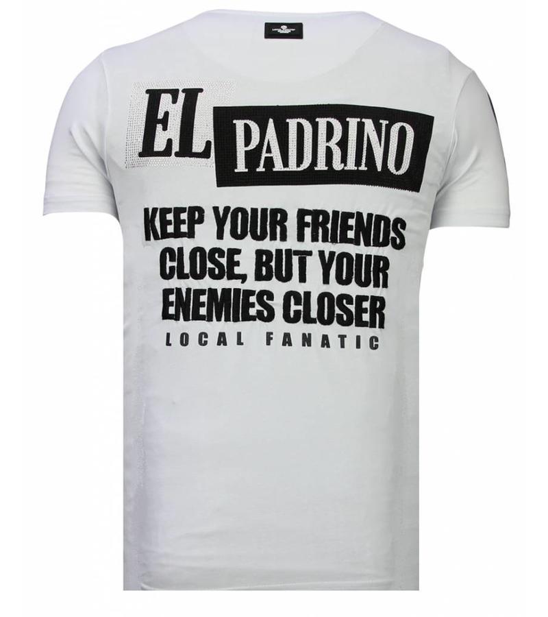 Local Fanatic Camisetas - Billionaire Boss - Rhinestone Camisetas -  Blanco