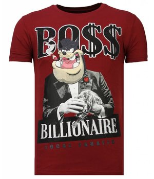 Local Fanatic Camisetas - Billionaire Boss - Rhinestone Camisetas -  Burdeos