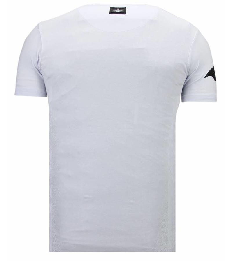 Local Fanatic Camisetas - Badman - Rhinestone Camisetas -  Blanco