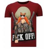 Local Fanatic Camisetas - Bandit Chief - Rhinestone Camisetas -  Burdeos