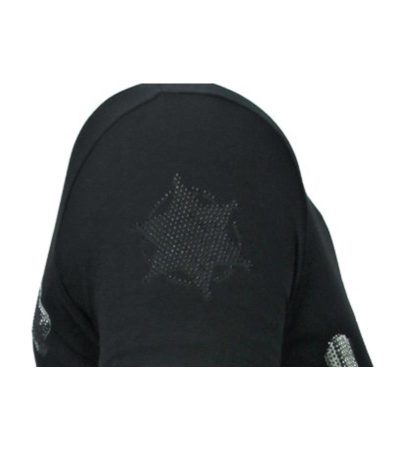 Local Fanatic Camisetas - Bandit Chief - Rhinestone Camisetas -  Negro