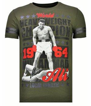Local Fanatic Camisetas - Greatest Of All Time - Rhinestone Camisetas -  Verde