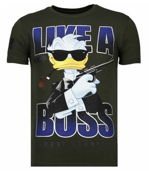 Local Fanatic Camisetas - Like A Boss - Rhinestone Camisetas -  Verde