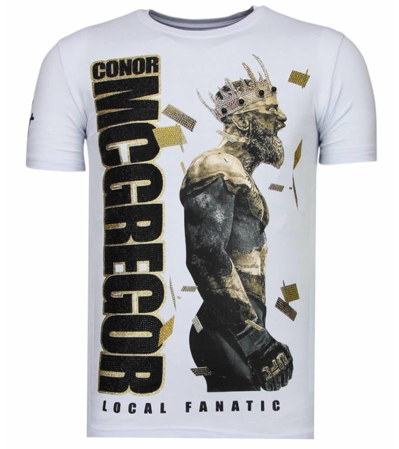 Local Fanatic Camisetas - Notorious King - Rhinestone Camisetas -  Blanco