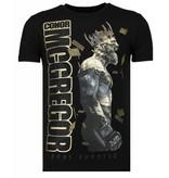 Local Fanatic Camisetas - Notorious King - Rhinestone Camisetas -  Negro