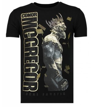 Local Fanatic Camisetas - Notorious King - Rhinestone Camisetas -  Negro