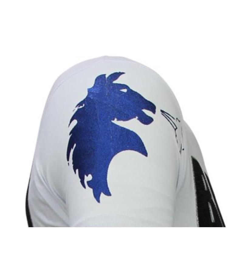 Local Fanatic Camisetas - Balboa - Rhinestone Camisetas -  Blanco