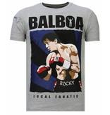 Local Fanatic Camisetas - Balboa - Rhinestone Camisetas -  Gris