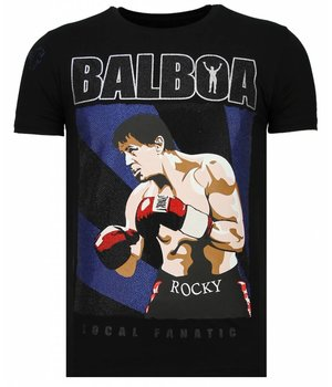 Local Fanatic Camisetas - Balboa - Rhinestone Camisetas -  Negro
