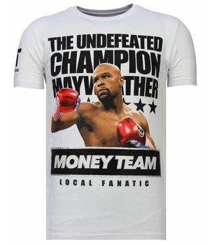 Local Fanatic Camisetas - Money Team Champ - Rhinestone Camisetas - Blanco