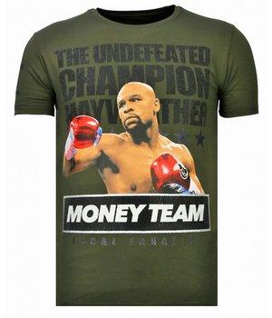 Local Fanatic Camisetas - Money Team Champ - Rhinestone Camisetas - Verde