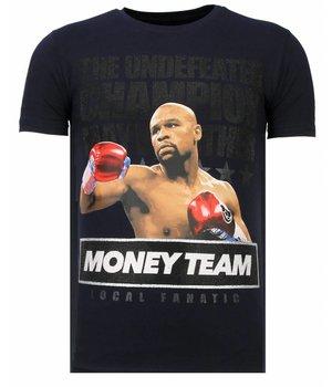 Local Fanatic Camisetas - Money Team Champ - Rhinestone Camisetas - Azul