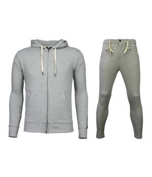 Bread & Buttons Chándal Basic - Side Lines Jogging Suit - Gris