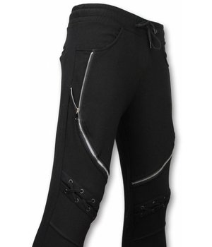 Enos Pantalones De Chándal Casual - Biker Braided - Negro