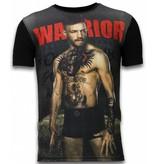 Local Fanatic McGregor Warrior - Digital Rhinestone Camisetas Personalizadas - Negro