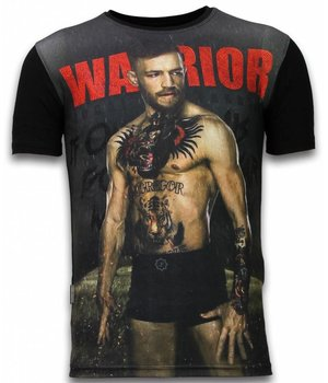 Local Fanatic McGregor Warrior - Digital Rhinestone Camisetas Personalizadas - Negro