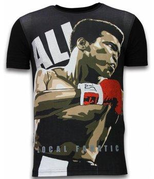 Local Fanatic Muhammad Ali - Digital Rhinestone Camisetas Personalizadas - Negro