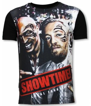 Local Fanatic Showtime - Digital Rhinestone Camisetas Personalizadas - Negro