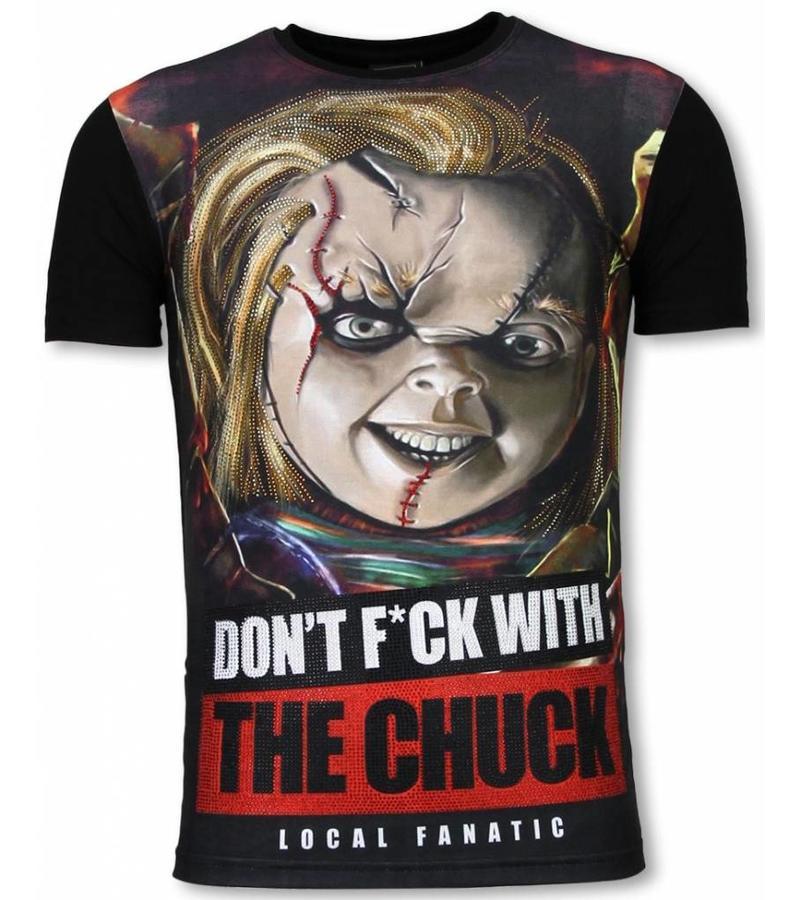 Local Fanatic The Chuck - Digital Rhinestone Camisetas Personalizadas - Negro