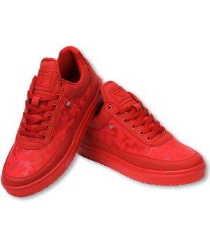 Cash Money Zapatillas - Zapatos para hombre Low Camouflage Side -  Case Army Rojo