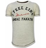 Local Fanatic Camiseta Longfit - I Feel Like Muhammad - Beige