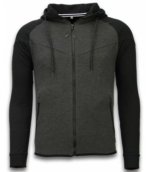 Style Italy Chándal Básico -  Windrunner Basic Ribbed - Negro / Gris