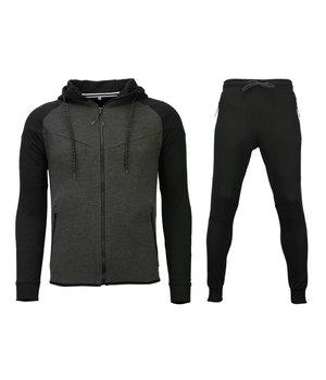 Style Italy Chándal Básico -  Windrunner Basic Ribbed - Negro / Gris
