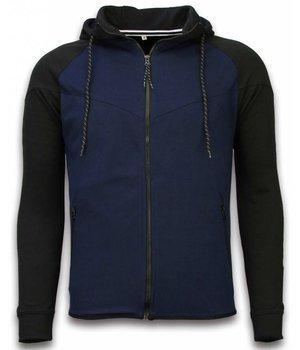 Style Italy Chándal Básico -  Windrunner Basic Ribbed - Negro / Azul