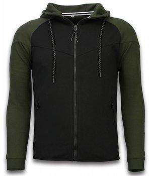 Style Italy Chándal Básico -  Windrunner Basic Ribbed - Negro / Verde