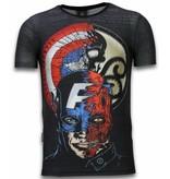 Local Fanatic Captain - Digital Rhinestone Camisetas Personalizadas - Negro
