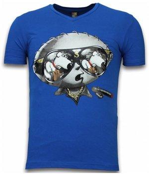 Mascherano Camisetas - la familia Peluche Stewie Dog - Azul