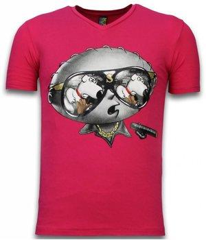 Mascherano Camisetas - Stewie padre de Familia  - Fucsia