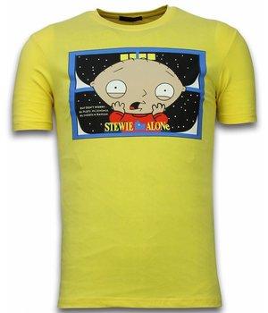 Mascherano Camisetas - Stewie Home Alone - Amarillo