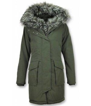 978f3065 Macleria Parkas Mujer - Abrigos de piel - Plumiferos Mujer - Verde