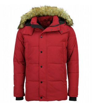 Enos Parkas Hombre -  Parkas Rojo - Abrigo de Invierno Hombres - Rojo