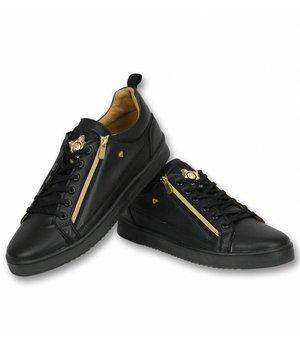 Cash Money Zapatos de Hombre - Zapatillas Bee Negro Dorado  - Negro