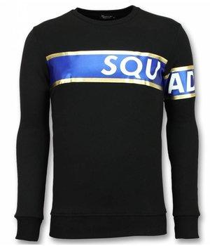 UNIMAN Stripe Color Sudadera - Sqouad-93 Suéter Hombre  -Negro