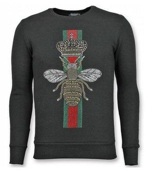 UNIMAN Rhinestone Sudaderas - Master Royal Color Bee Jerseys Hombres - Negro