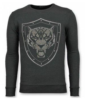 UNIMAN Rhinestone Jersey - Master Tiger Jersey Hombres - Negro