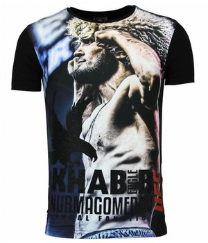 Local Fanatic The Eagle Nurmagomedov - Men's UFC Khabib Camiseta Hombre - Negro